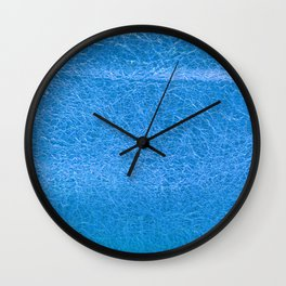 Crinkled Frost Blue Foil Texture Christmas/ Holiday Wall Clock