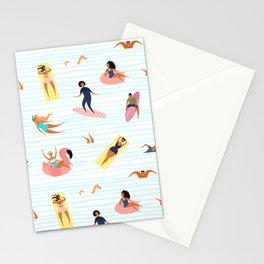 Summer Swim Surf Sun on the Beach Stationery Cards
