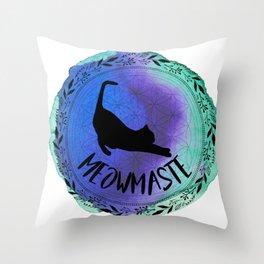Meowmaste Yoga Cat Throw Pillow