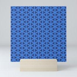 Blue Snake Scales Pattern Mini Art Print