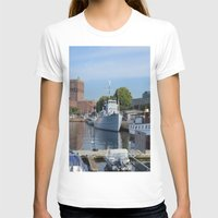 oslo T-shirts featuring Minesweeper Alta In Oslo by Malcolm Snook