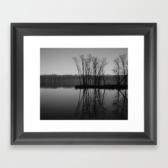 Mississippi mirror Framed Art Print