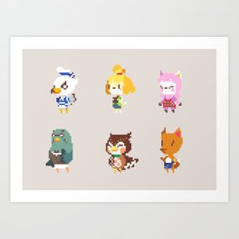 Animal Crossing: New Leaf Art Print