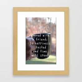 Coffee Friendship Framed Art Print