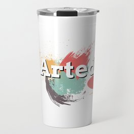 Funny I Arted Artist Joke Artistic Painting Pun Travel Mug