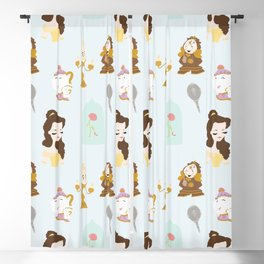 Beauty Crew Pattern Blackout Curtain