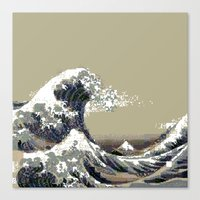 hokusai Canvas Prints featuring Hokusai by noirlac
