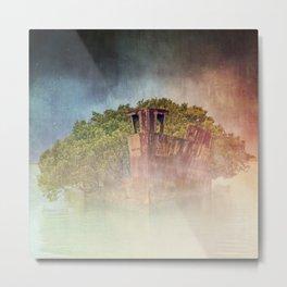 Ghostly Garden Shipwreck Metal Print