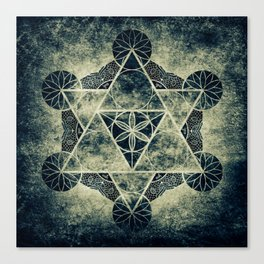 Sacred Geometry for your daily life -  Platonic Solids - IGNIS Canvas Print