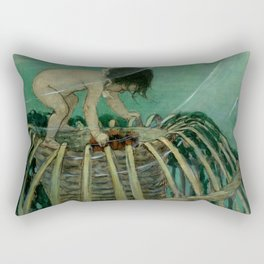 """""""Baby and the Lobster Trap"""" by Jessie Willcox Smith Rectangular Pillow"""
