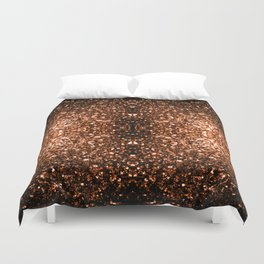 Beautiful Bronze Orange Brown glitters sparkles Duvet Cover