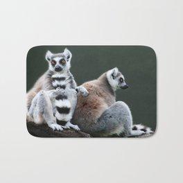 Ring Tailed Lemurs Bath Mat