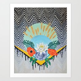 Calia, A Late Summer's Bloom Art Print