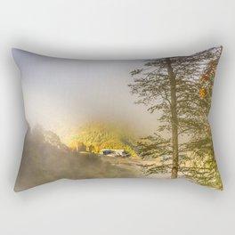Mountains in the mist Rectangular Pillow