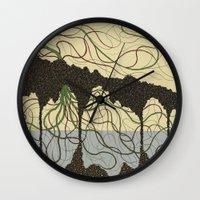 hawaiian Wall Clocks featuring first hawaiian by thefleafarm (Amy Wright)