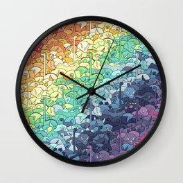 Rainbowsaurs Wall Clock