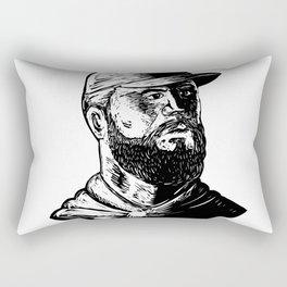 Bearded Chef Scratchboard Rectangular Pillow