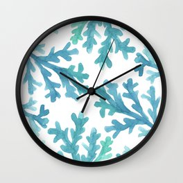 Blue Ombre Coral Wall Clock