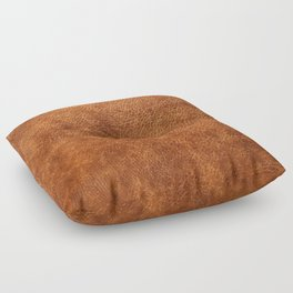 Brown vintage faux leather background Floor Pillow