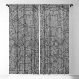 Literary Overload II Sheer Curtain