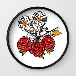 Movie Roses Actor Or Actress Gift Wall Clock