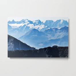 Great Mountains Landscape - The Peaks of The Alps #decor #society6 #buyart Metal Print