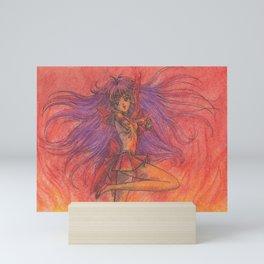 Sailor Mars Fire Attack Mini Art Print