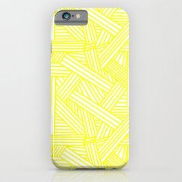 Sketchy Abstract (Yellow & White Pattern) iPhone Case