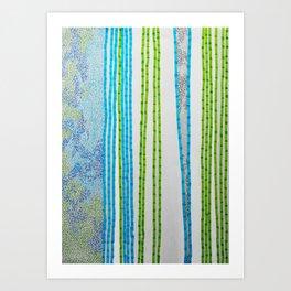 rain in the bamboo grove - early morning Art Print