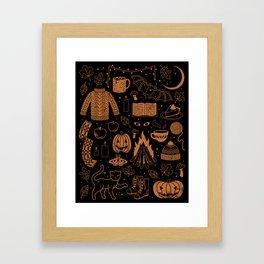 Autumn Nights: Halloween Framed Art Print