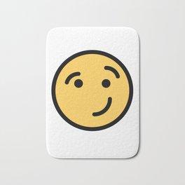 Smiley Face   Cheeky Eyebrow Raised Smile Bath Mat