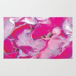 Pink Rose Pop Art Rug