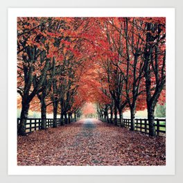 Welcome Home to Fall Art Print