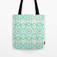 hexagon Tote Bags featuring Hexagon by TURQUOISE DAYS