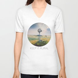 Windmill Sunset Unisex V-Neck