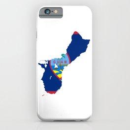 Flag Map of Guam  iPhone Case