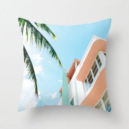 Miami Fresh Summer Day Throw Pillow