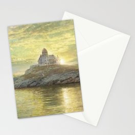 Harbor entrance on Bull Point, Newport Harbor, Newport, Rhode Island by William Trost Richards Stationery Cards