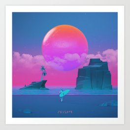 Soulsurfer Art Print