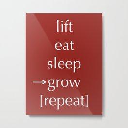 Lift Eat Sleep Repeat Metal Print