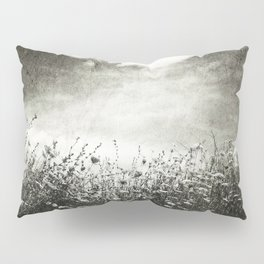 Counting Flowers Like Stars - Black and White Pillow Sham