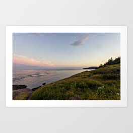twilight at the sea Art Print