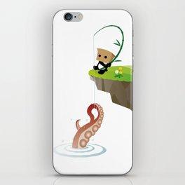 Mysterious Panda-Sea King fishing octopus iPhone Skin