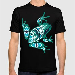 Frog Pacific Northwest Native American Indian Style Art T-shirt