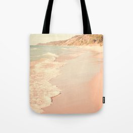 Her Mind Wandered Back and Forth With the Waves Tote Bag