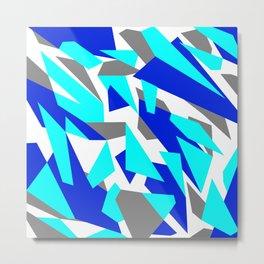 Digital Snow Camouflage Metal Print