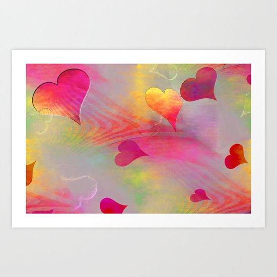 Hearts 2016/001 Art Print