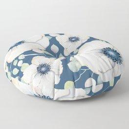 Summer Flowers Blue #society6 #buyart Floor Pillow