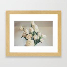 Morning Flowers Framed Art Print