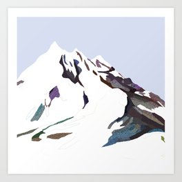 Mountains In The Cold Design Art Print